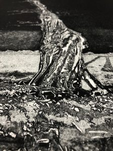 Print from an etching plate