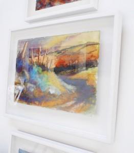 Floating Artwork within White Box